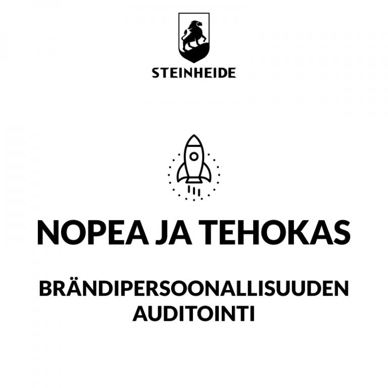U3 brändipersoonallisuuden auditointi: NOPEA JA TEHOKAS